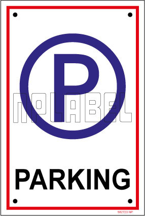 582723 Sign Name Plate - Parking