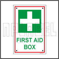 582724 First Aid Box Sign Name Plates & Signs