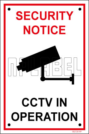 582728 CCTV In Operation Caution Sign Sticker