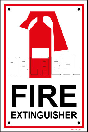 582736 Fire Extinguisher Name Plate & Signs