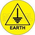 590662 Earth Sticker Label