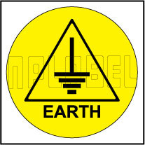 590662 Earth Sticker Label