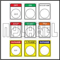 590812 Push Button Labels
