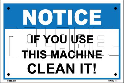 590902 Clean Machine Name Plate & Signs