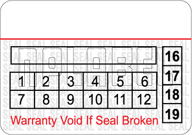 591065 Tamper Proof Security Warranty Void Label