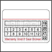591065C Warranty Void Label Template