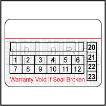 591065C Warranty Void Label Template
