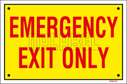 591693 Emergency Exit Sign Name Plates & Signs