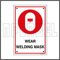 591789 Wear Welding Mask Name Plates & Signage