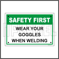 591901 Wear Goggles Sign Sticker
