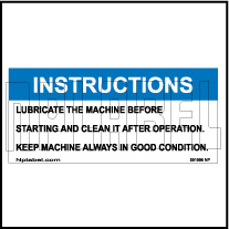 591996 Lubrication Instructions Stickers