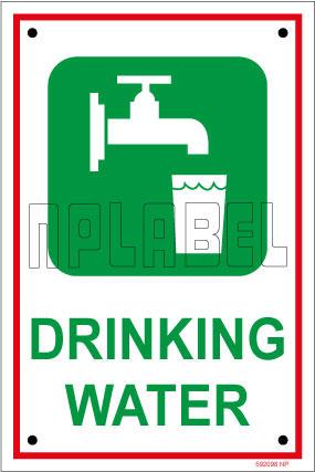 592098 Sign Sticker - Drinking Water