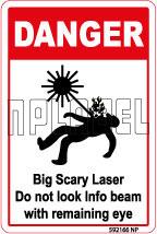 592166 Big Scary Laser Labels & Sticker
