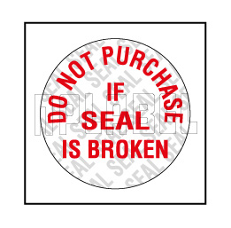592175 Security Seal Sticker - Do not Purchase