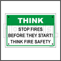 592215 Safety First Signage Sticker