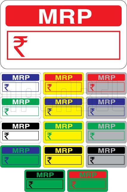 592318 MRP Price Tag Label Sticker