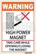 592319 High Power Magnet Caution Sticker & Labels
