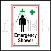 592514 Emergency Shower Name Plates & Signage