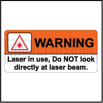 592516 Warning - Laser Beam Stickers