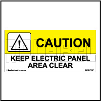 592517ML Keep Electric Panel Area Metal Labels