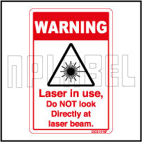 592519 Laser In Use Caution Sticker