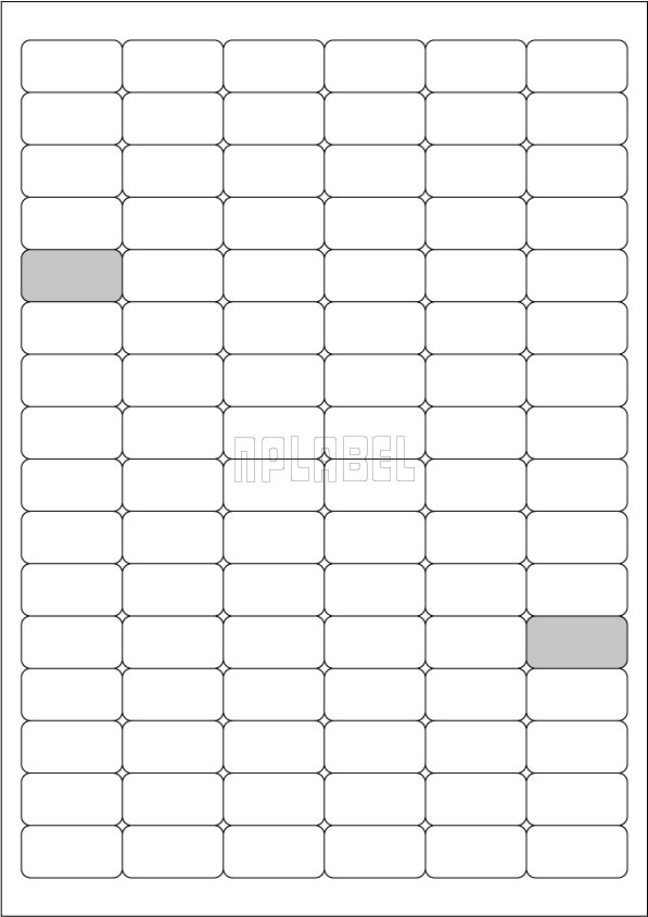 GU6096 Multipurpose Stickers A4 Sheets