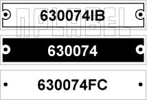 630074 - Control Panel Labels Size 75 x 15mm