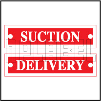 640190 Suction/Delivery Labels
