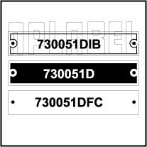 730051D - Control Panel Labels Size 80 x 15mm