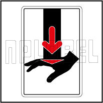 770606 Protect Hand Warning Sticker & Labels