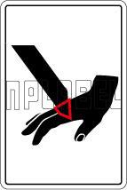 770607 Hand Safety Caution Sticker & Labels