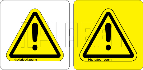 770611 Caution Sign Labels & Stickers