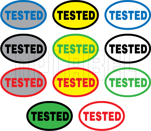 820066 Tested Oval Sticker