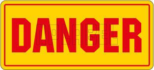 830315 Danger Labels & Stickers