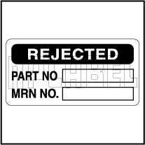 910074 Rejected Paper Sticker