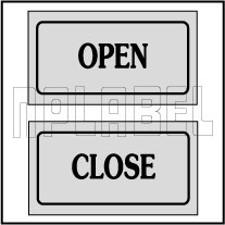 940134 Sticker Label - Open-Close