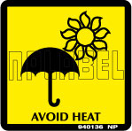 940136 Avoid Heat Signs Stickers & Labels