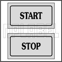 940160 Start Stop Control Panel Sticker