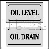 940167 Oil Level/Oil Drain Sticker Labels