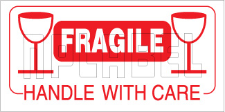 940562 Fragile - Handle With Care Sticker Labels