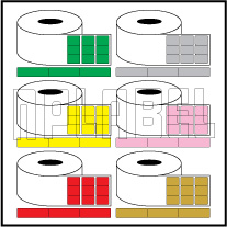 Color Barcode Labels - Across 3 Labels
