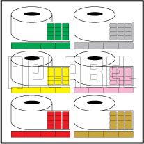 Color Barcode Labels - Across 4 Labels
