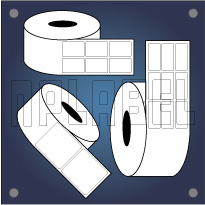 Thermal Transfer Blank Barcode Stickers