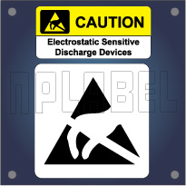 Caution - Warning Labels for Electrostatic Device