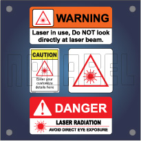 Caution and Warning Labels for UV / Laser Radiation
