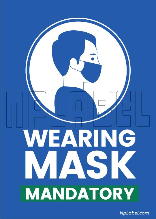 CD1902 Wearing Mask Signages