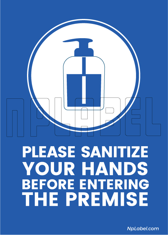 CD1903 Sanitise Your Hands Signages