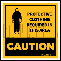 CD1930  COVID19 Protective Cloth Caution Signages
