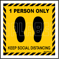 CD1961 Social Distance for 1 Person Signages