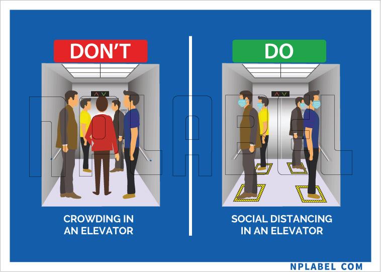 CD1980 Elevator etiquette Signages